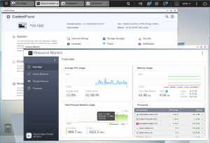 The Control Panel and resource monitor get a welcome refresh in QTS 4.3