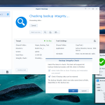 The versatile Hyper Backup app runs integrity checks to make sure it can recover your data