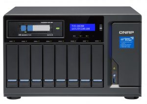 We used Qnap's TVS-882BR high-end SMB appliance to test Toshiba's 16TB MG08ACA16TE drives