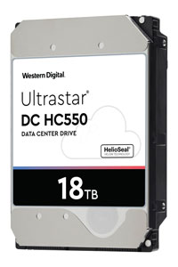18TB UltraStar DC HC550 model number WUH721818ALE6L4